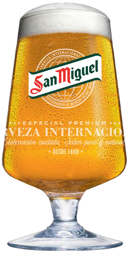 San Miguel Half Pint Chalice Glasses 10oz Ce Box Of 24