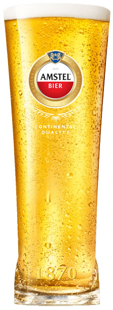 Amstel Beer Branded Pint Glass 20oz Ce