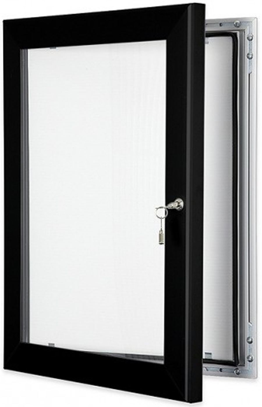 Internal Door Hinges >> Locking Poster Display Case (Black)