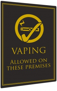 Vaping Allowed Sign