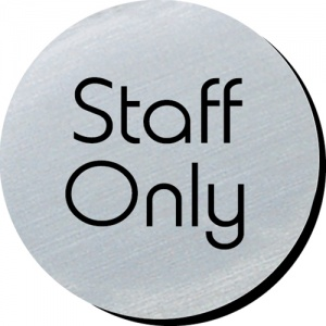 Staff Only Door Disc