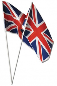 Union Jack Hand Flags - Pk of 10