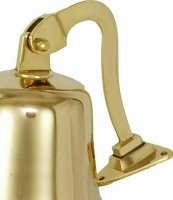4'' Solid Brass Pub Last Orders Ship Bell
