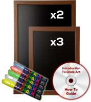 Oak Effect Chalkboard Package