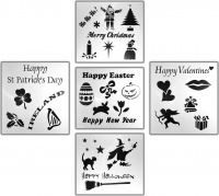 Chalkboard Stencils - Holiday Events & Occasions