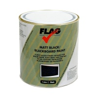 Flag Matt Black Blackboard Paint - 1 Litre