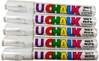 U-Chalk Wet Wipe Pens (White) 5 Pack