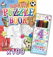 Puzzle Activity Book & Crayon Sets