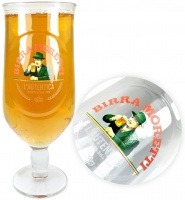 Birra Moretti Pint Chalice Glass (20oz) CE