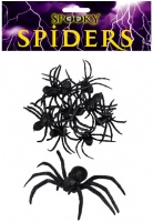 Plastic Spiders - Pack of 9