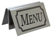 Menu Sign & Holder - Tent Shaped