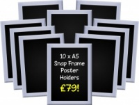 A5 Snap Frames (Pack of 10)