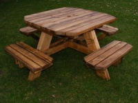 Octagonal Garden Table